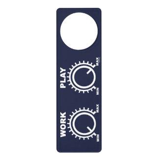Play hard door hanger