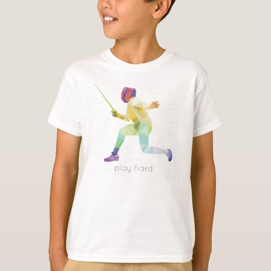 Play Hard Fencing Origami T-Shirt