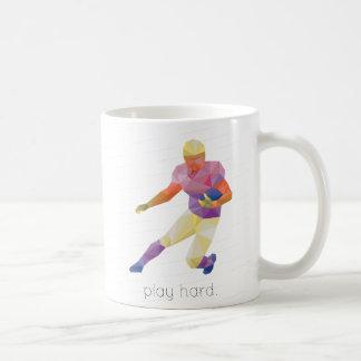 Play Hard Football Origami Basic White Mug
