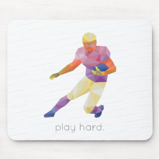 Play Hard Football Origami Mouse Pad