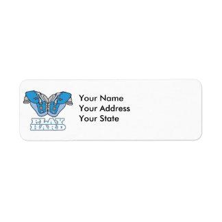 play hard football return address label