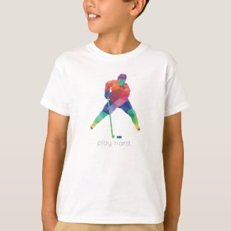 Play Hard Hockey Origami T-Shirt