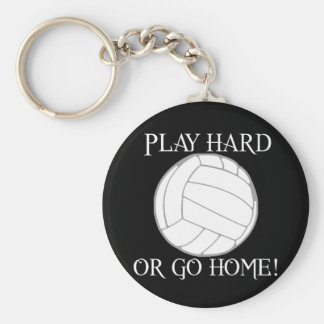 Play Hard or Go Home! Basic Round Button Key Ring
