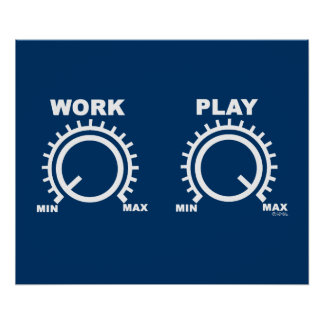 Play hard poster