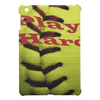 Play Hard Softball Seams Notebook iPad Mini Case
