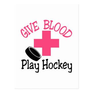 Play Hockey Postcard