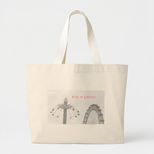 Play in London Large Tote Bag
