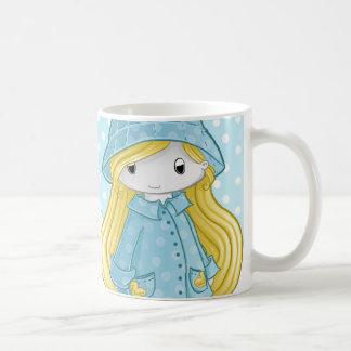 Play in the rain basic white mug
