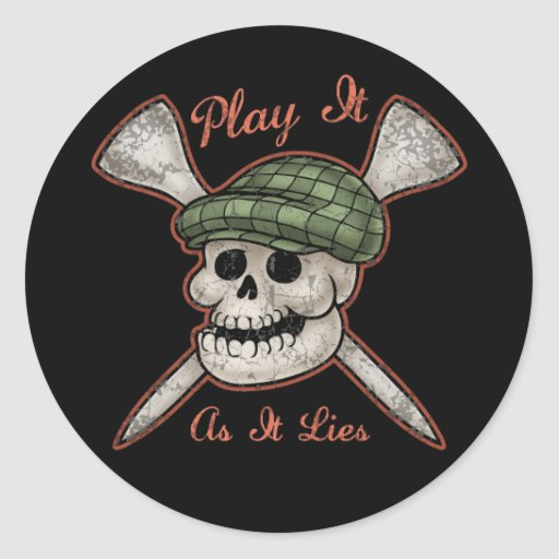 Play It As It Lies Round Stickers