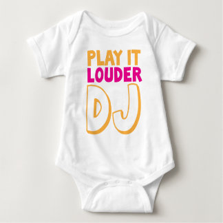 PLAY it LOUDER DJ! Baby Bodysuit