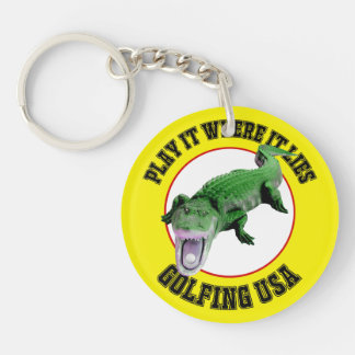Play It Where It Lies - Golf Key Chain