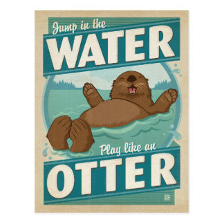 Play Like an Otter Postcard