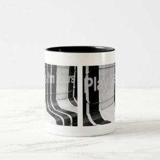 Play me I'm yours Two-Tone Coffee Mug