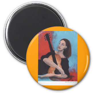 Play Me (The Girl with the Guitar) Magnet