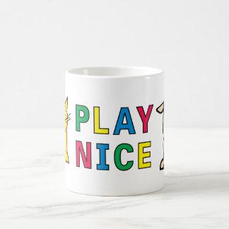 PLAY NICE Happy Kids Design Tall Basic White Mug