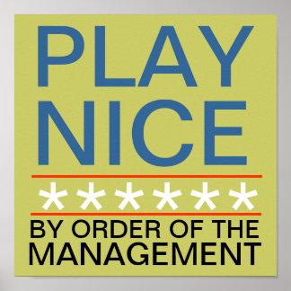 Play Nice Print