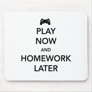 Play Now and Homework Later Mouse Mat