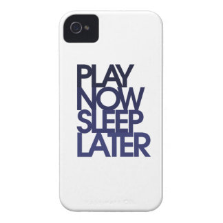 Play now sleep later iPhone 4 cases