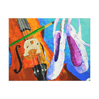 Play Paint Pointe 11x14 Wrapped Canvas by panoplei