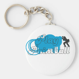 Play Paintball Basic Logo Basic Round Button Key Ring