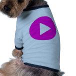 Play - pink icon dog shirt