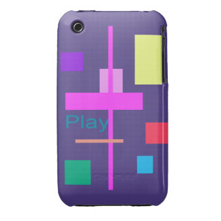 Play Prussian Blue iPhone 3 Case-Mate Cases