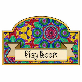 """Play Room"" - Decorative Sign Cut Out"