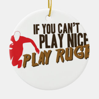 Play Rugby Christmas Ornament