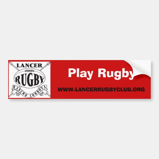 Play Rugby - Customised Bumper Sticker