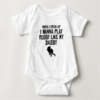 Play Rugby Like My Daddy Baby Bodysuit