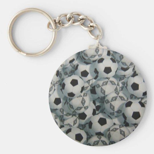 Play Soccor Basic Round Button Key Ring