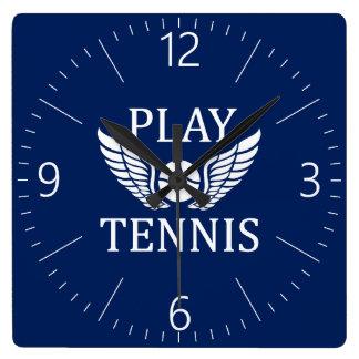 Play tennis wall clock