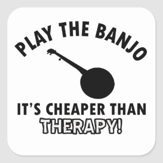 Play the Banjo Sticker