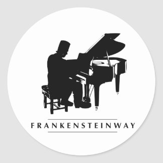 Play the Frankensteinway! Classic Round Sticker