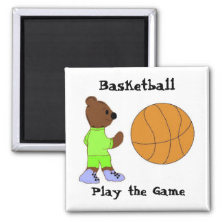 Play the Game, Basketball Square Magnet