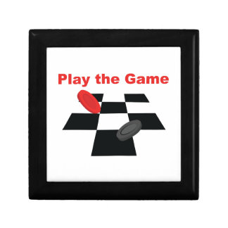 Play The Game Small Square Gift Box