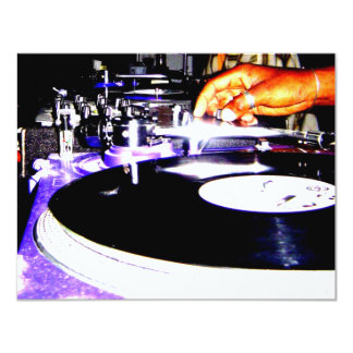Play the Record 11 Cm X 14 Cm Invitation Card