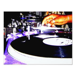 Play the Record 11 Cm X 14 Cm Invitation Card