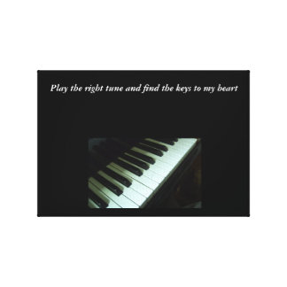 Play The Right Tune Canvas Canvas Print