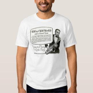 Play the Saxophone vintage ad Tshirts