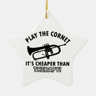 Play the   trumpet ceramic star decoration