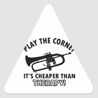 Play the   trumpet triangle sticker