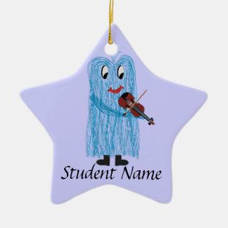 Play the Violin / Viola, Get a warm Fuzzy Feeling! Ceramic Star Decoration