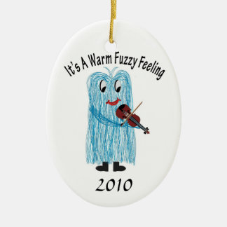 Play the Violin / Viola, Get a warm Fuzzy Feeling! Christmas Ornament