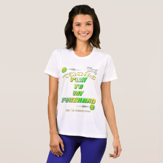 Play to my forehand tennis Competitor T-Shirt