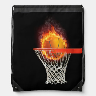 PLAY TO WIN Basketball Drawstring Bag