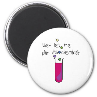 Play with Chemicals 6 Cm Round Magnet