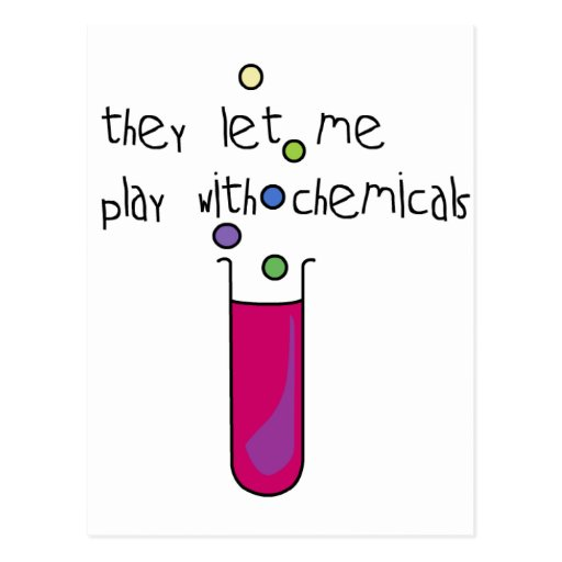 Play with Chemicals Post Card