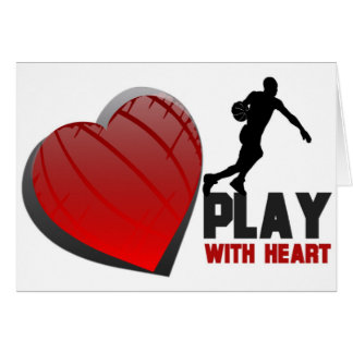Play With Heart Basketball Greeting Card