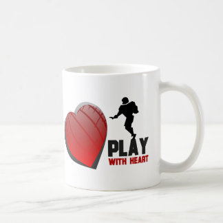 Play With Heart Football Basic White Mug